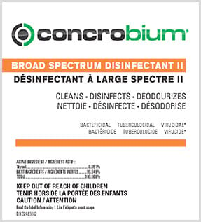 Concrobium Broad Spectrum Disinfectant II Label